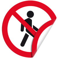 Наклейка 100 мм (Проход запрещен двухсторонняя)