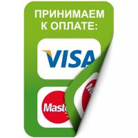 Наклейка 100х150 мм (Visa, MasterCard двухсторонняя)
