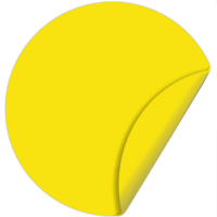Наклейка 150 мм (Желтый круг двухсторонняя)