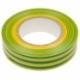Изолента 19мм х 20м желто-зеленая ЭРА