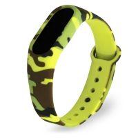 Ремешок для Mi Band 2 силиконовый желтый камуфляж