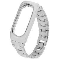 Ремешок для Mi Band 2 металлический серебряный