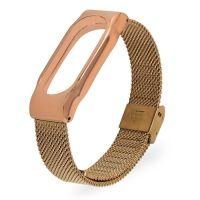 Ремешок для фитнес-браслета Mi Band 2 стальной золотой