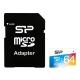 64Gb microSDXC UHS-I Silicon Power (цветная) с адаптером