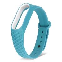 Ремешок для фитнес-браслета Mi Band 2 ребристый голубой
