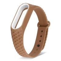 Ремешок для фитнес-браслета Mi Band 2 ребристый коричневый
