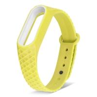 Ремешок для фитнес-браслета Mi Band 2 ребристый желтый