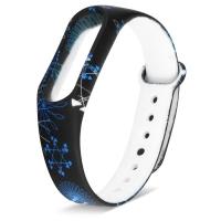 Ремешок для Mi Band 2 силиконовый с зимним узором