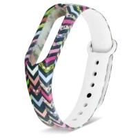 Ремешок для Mi Band 2 силиконовый с узором цветная мозаика