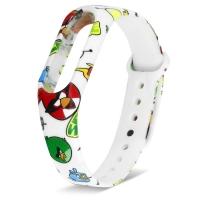 Ремешок для фитнес-браслета Mi Band 2 силиконовый с узором Angry Birds