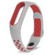 Ремешок для Mi Band 2 силиконовый серый с красным спорт