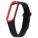 Ремешок для фитнес-браслета Xiaomi Mi Band 3 чёрный с красным