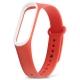 Ремешок для Xiaomi Mi Band 3 красный с белым