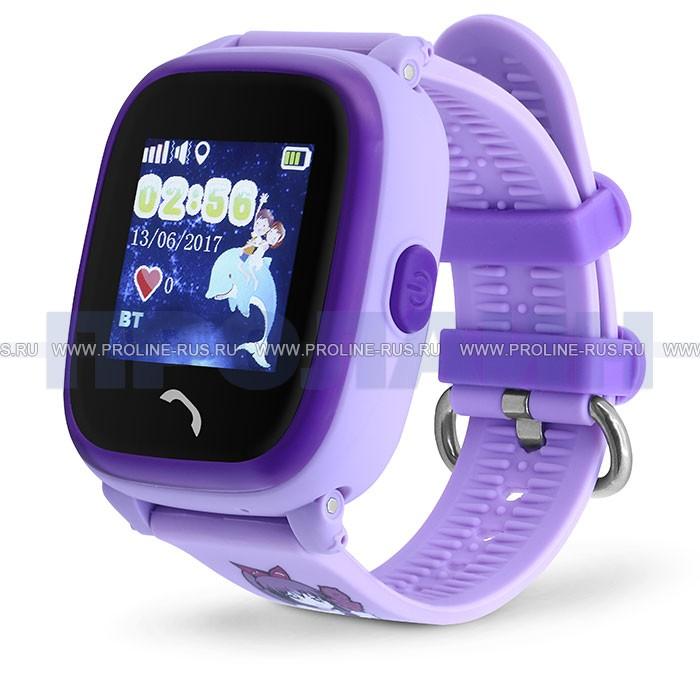 Умные детские часы с GPS Smart Baby Watch GW400S Purple