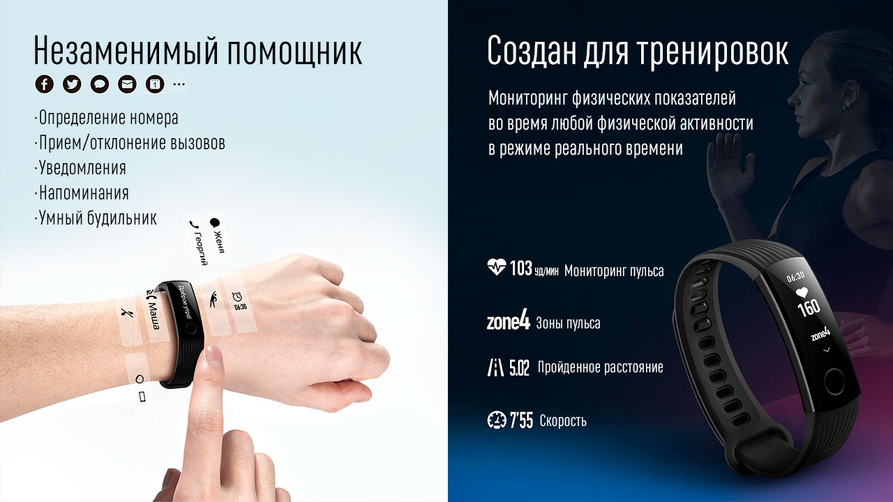 Фитнес-браслет Huawei Honor Band 3 Black