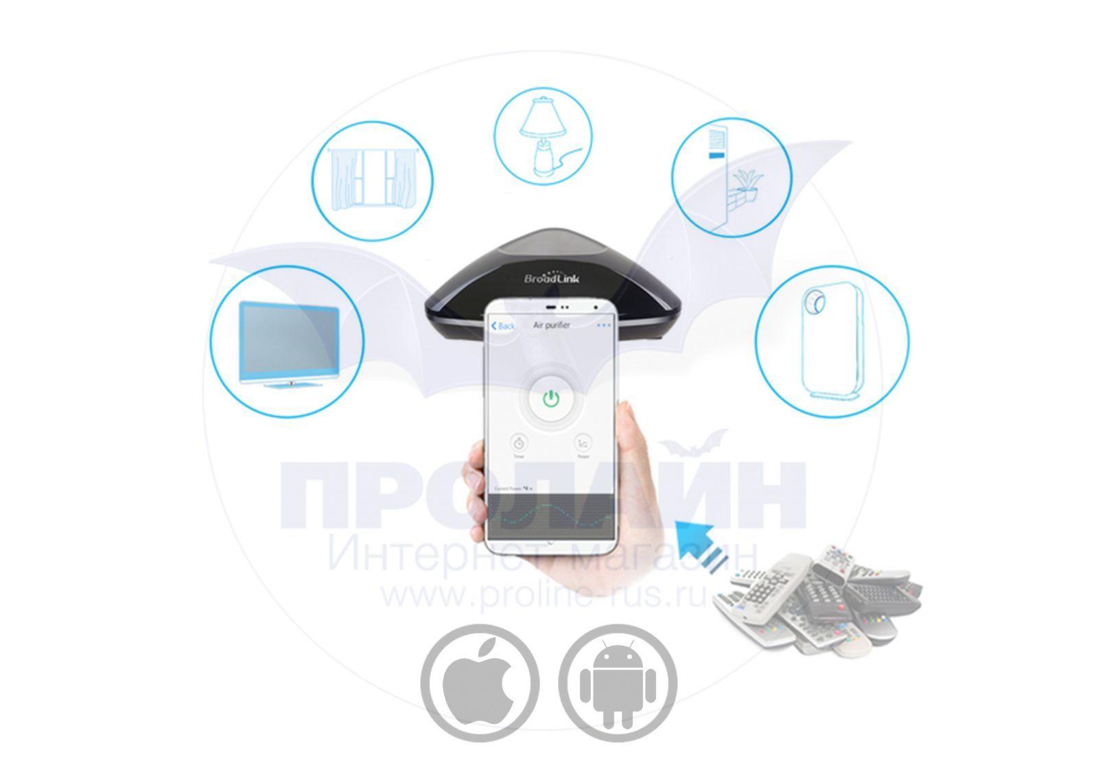 Универсальный умный пульт ДУ BroadLink RM Pro