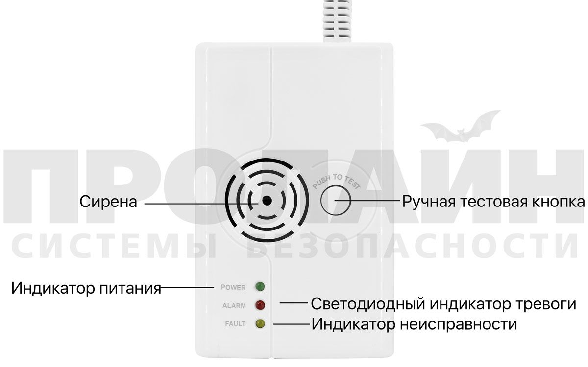 Беспроводной датчик утечки газа Dinsafer Wireless Gas Sensor