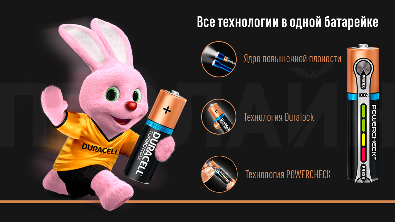 Батарейка Duracell Ultra Power AAА LR03/MX2400