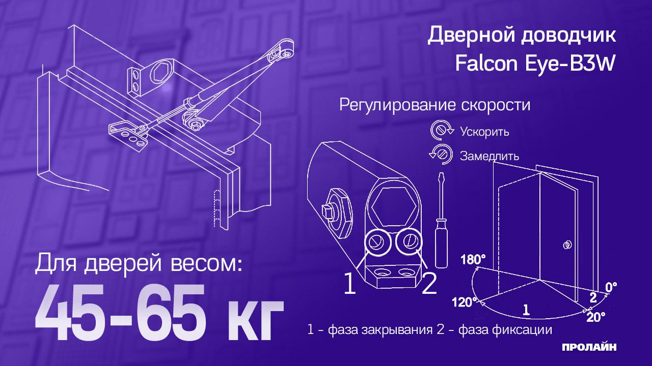 Доводчик Falcon Eye FE-B3W (белый)