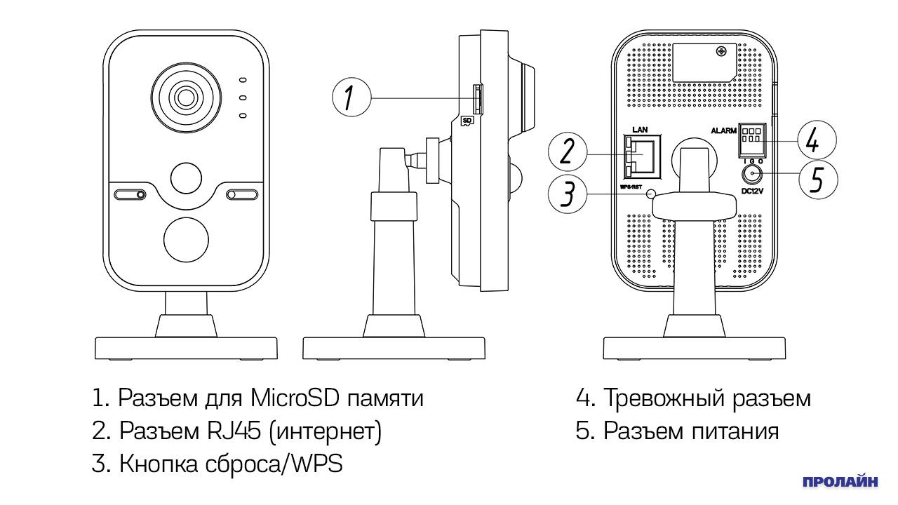 Внутренняя IP камера HIKVISION DS-2CD2442FWD-IW 2.8mm