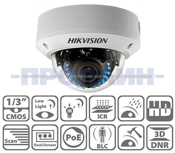 Купольная IP камера DS-2CD2742FWD-IS