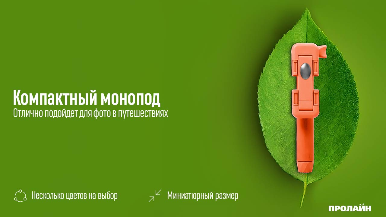 Монопод для селфи iCanany RK-Mini2 Green