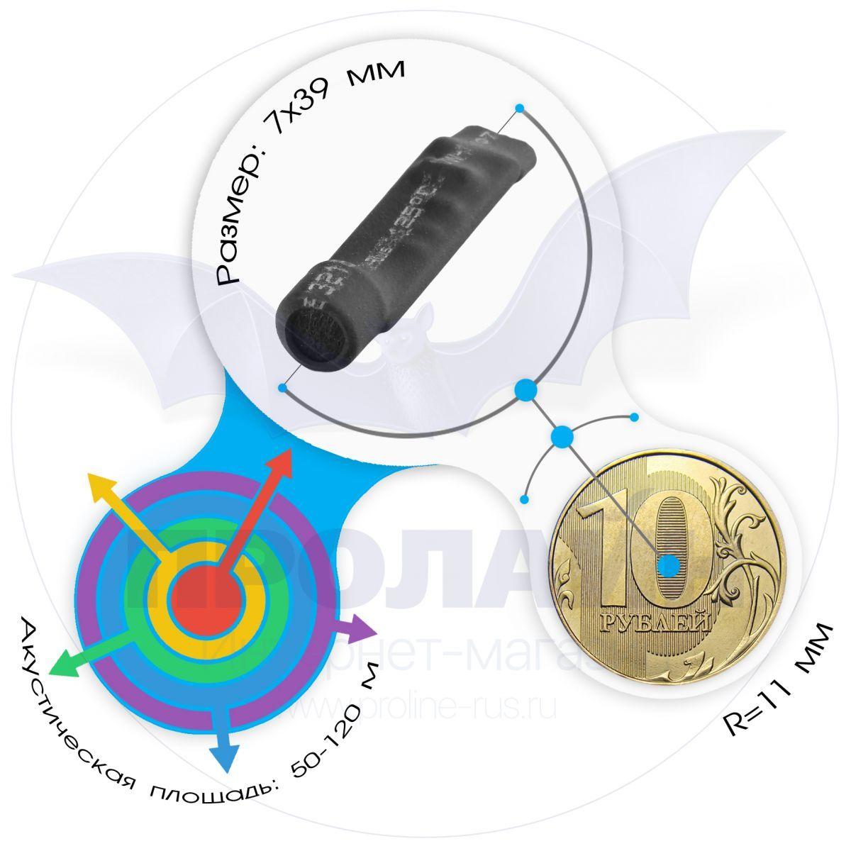 Миниатюрный активный микрофон для видеосистем с АРУ MIC-803
