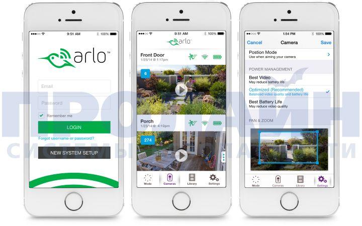 Видео с камер можно просматривать в мобильном приложении для iOS или Android