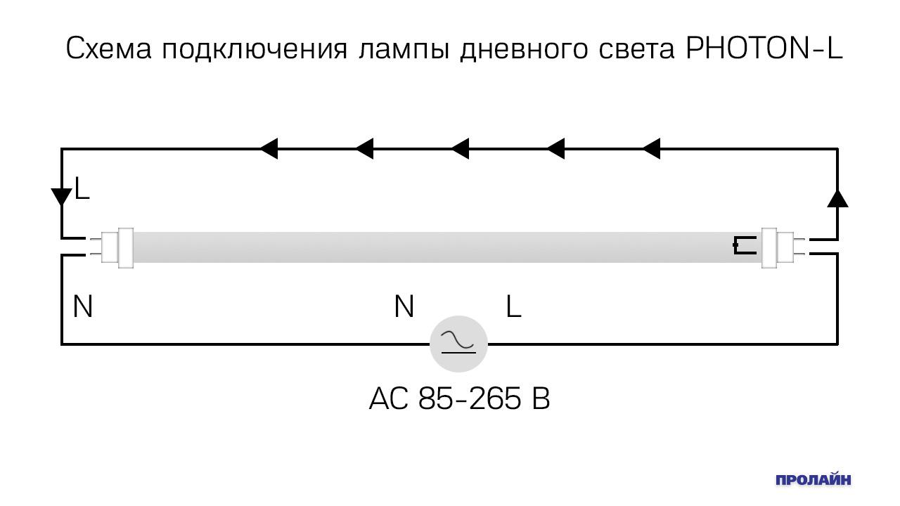 Лампа дневного света PHOTON-L PH-TB10MWW c ПМ