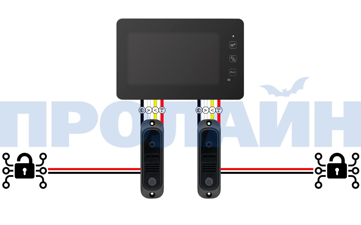 "Комплект 9"" LCD цветного видеодомофона Proline DF-KIT938R"