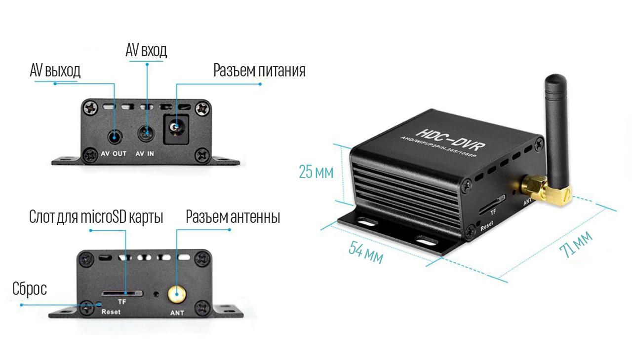 Миниатюрный видеорегистратор Proline HDC-DVR