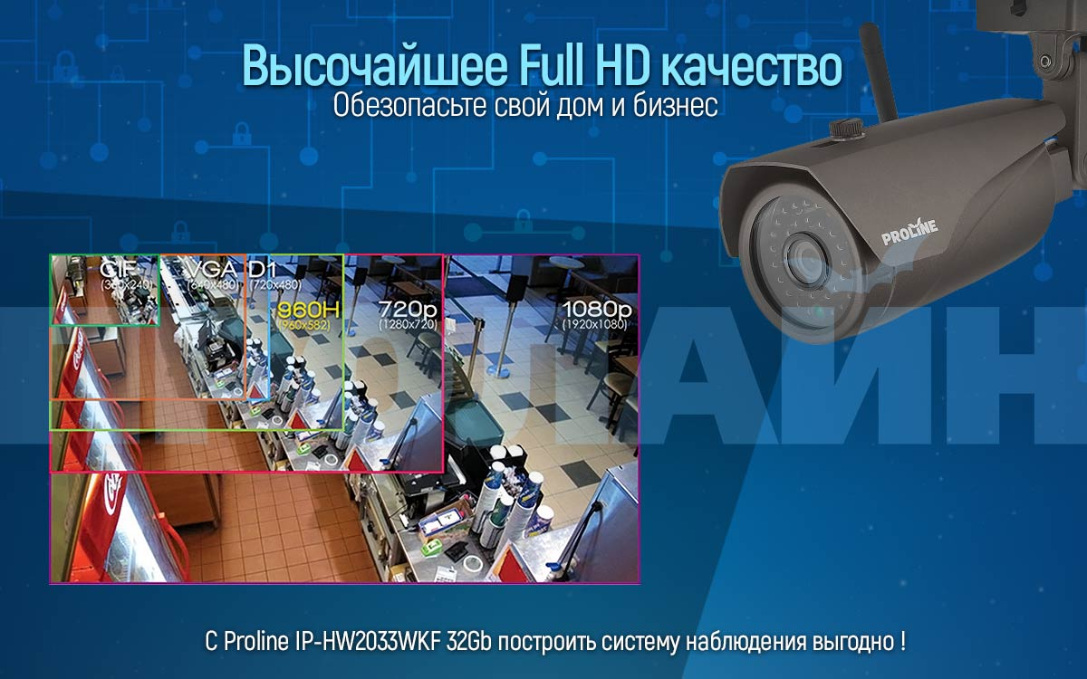 Уличная IP-камера Proline IP-HW2033WKF 32Gb