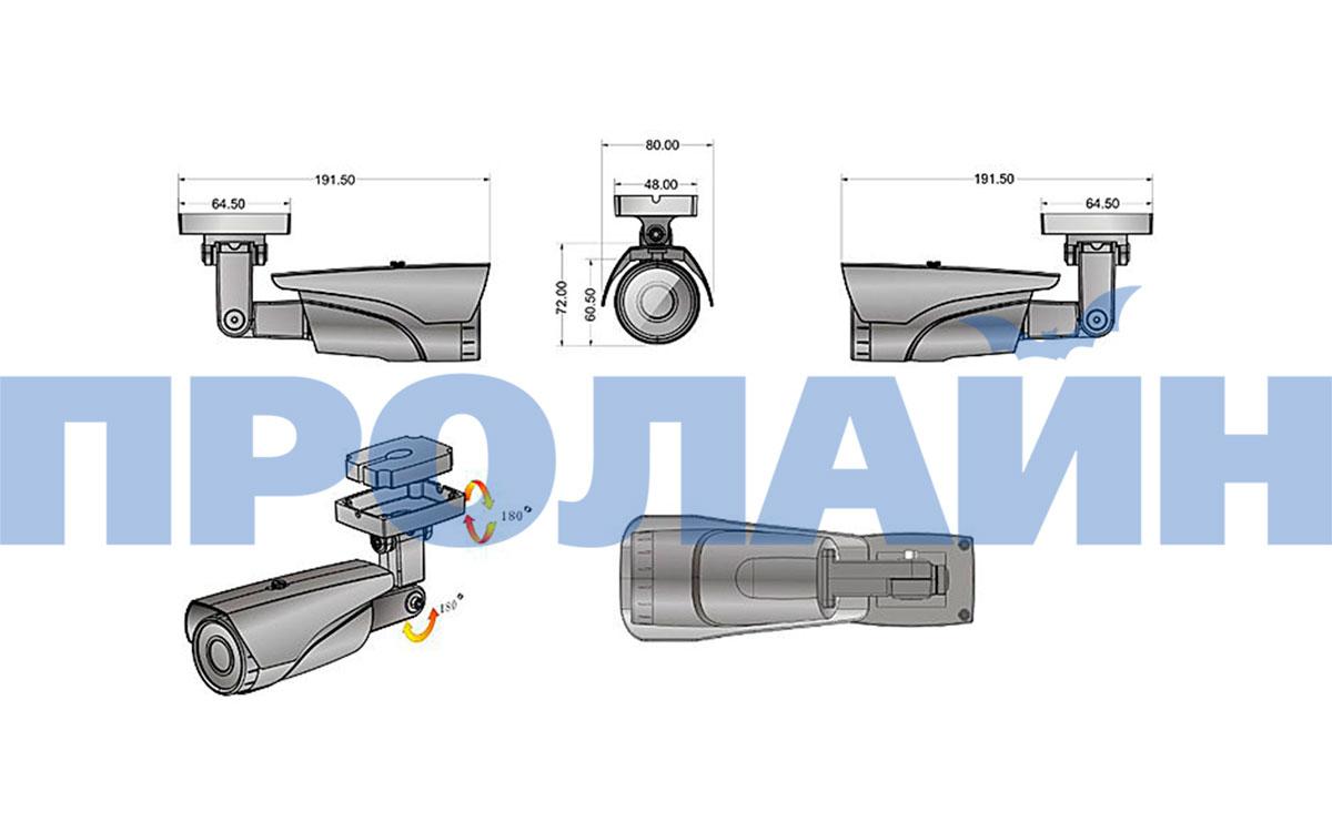 Уличная IP камера Proline IP-W2133KF POE