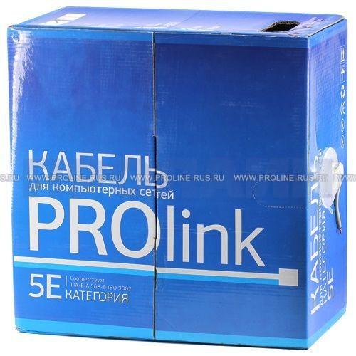 Кабель UTP категория 5е PROlink UTP 4x2x0.5