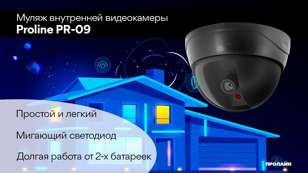 Муляж купольной камеры видеонаблюдения Proline PR-09