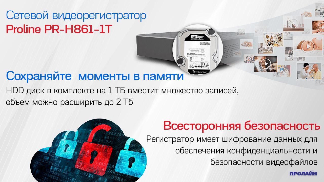 Сетевой видеорегистратор Proline PR-H861-1T