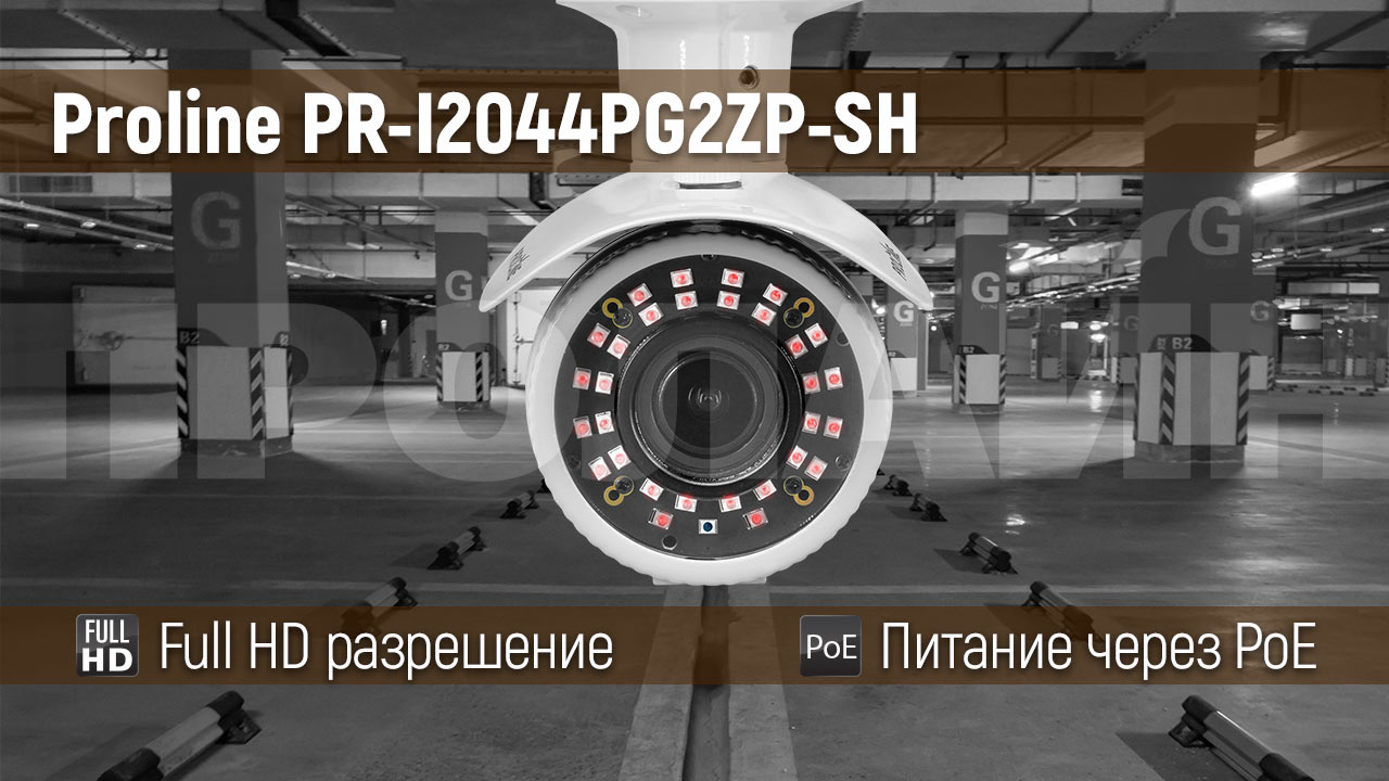 Уличная 2 Мп IP-камера Proline PR-I2044PG2ZP-SH