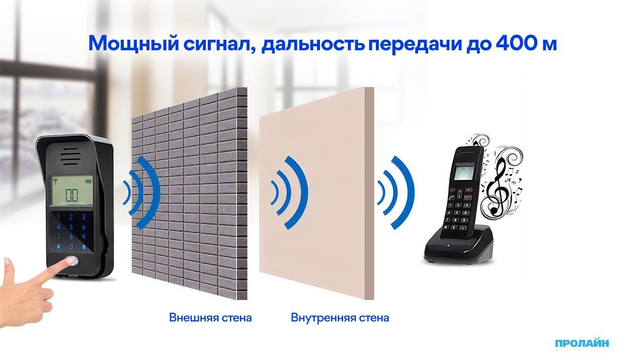 Беспроводной аудиодомофон Proline PR-RF333HC
