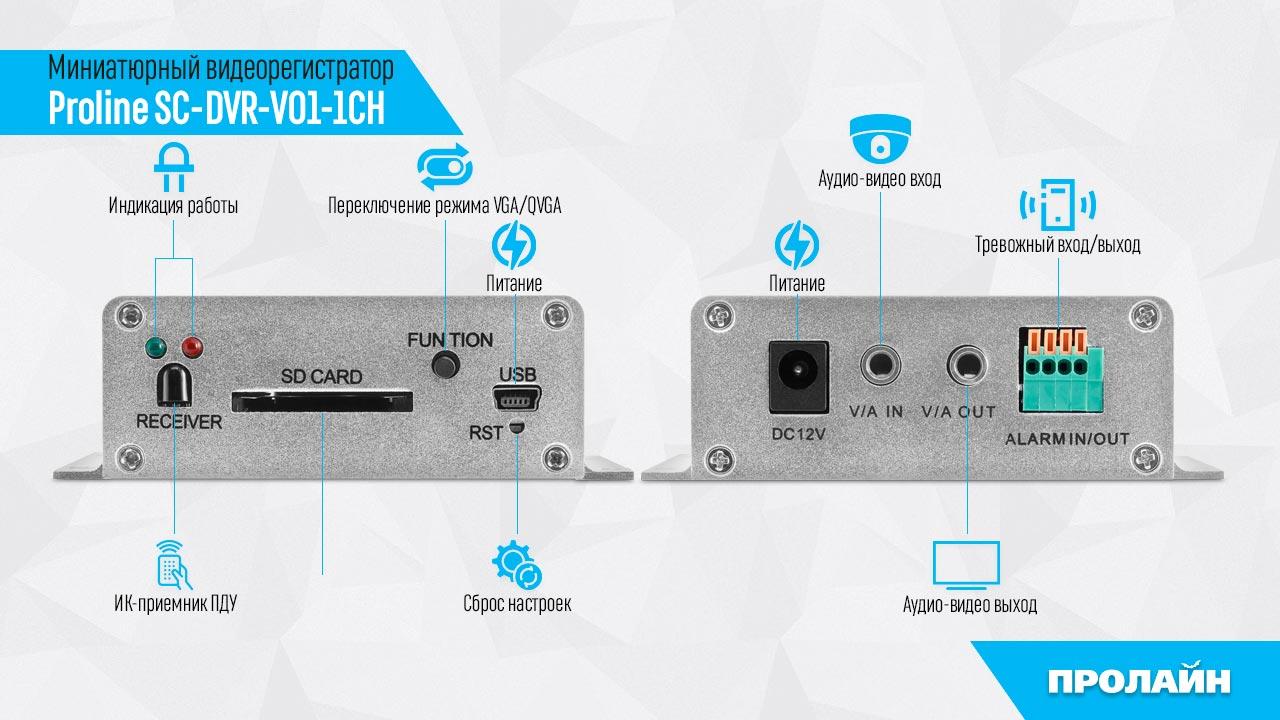 Миниатюрный видеорегистратор Proline SC-DVR-V01-1CH