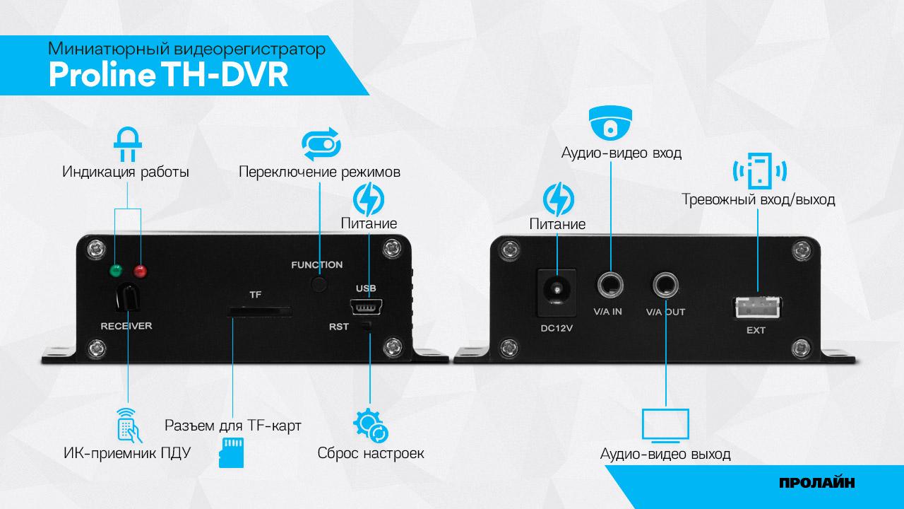Миниатюрный видеорегистратор Proline TH-DVR