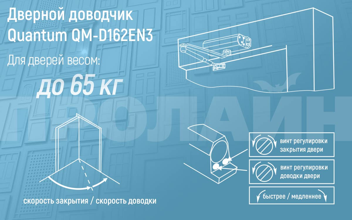 Доводчик Quantum QM-D162EN3-Sl