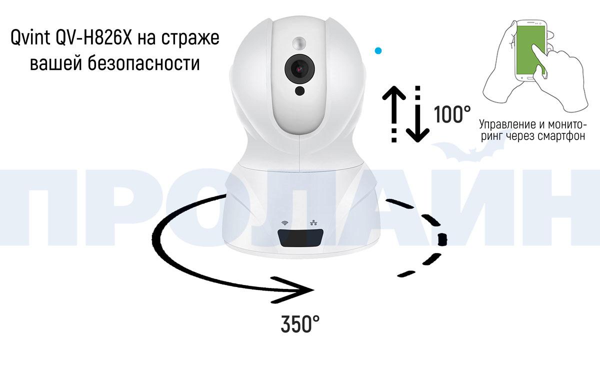 Внутренняя поворотная IP-камера Qvint QV-H826X