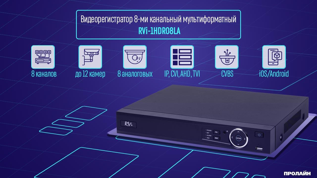 Гибридный видеорегистратор RVI-1HDR08LA