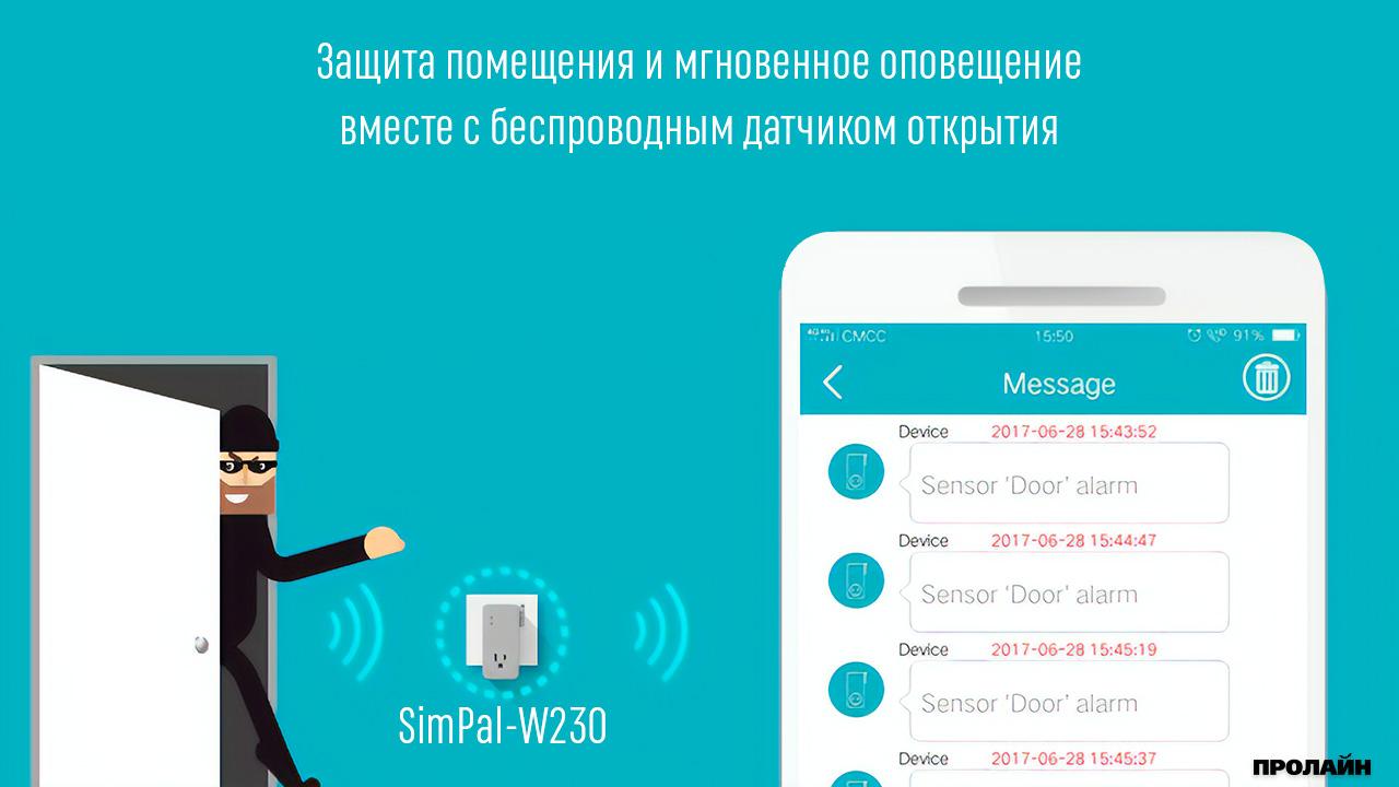 Wi-Fi розетка SimPal-W230