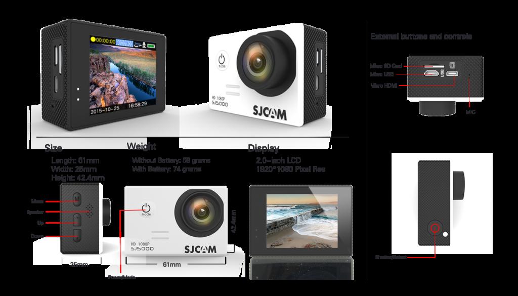 Экшн камера SJCAM SJ5000