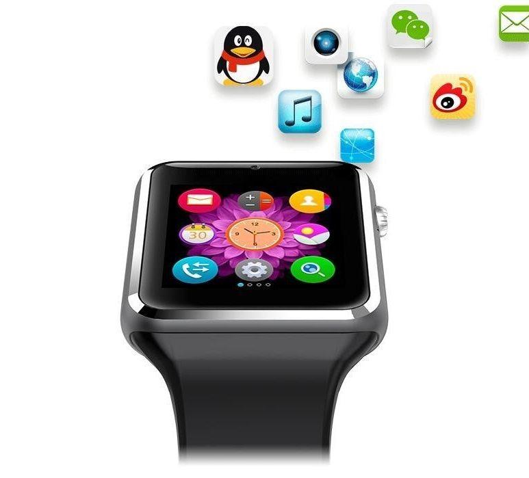 Умные часы с GPS Smart Watch A1 Green в классическом стиле