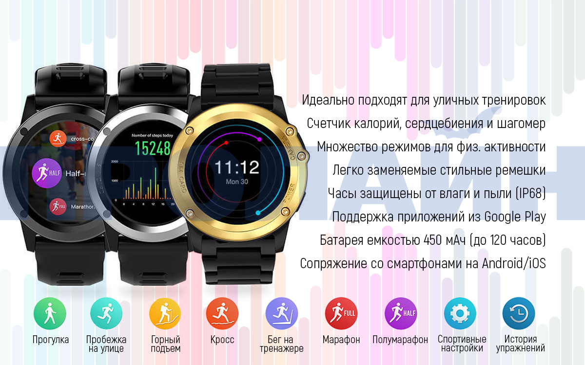 Умные часы Smart Watch H1 Black