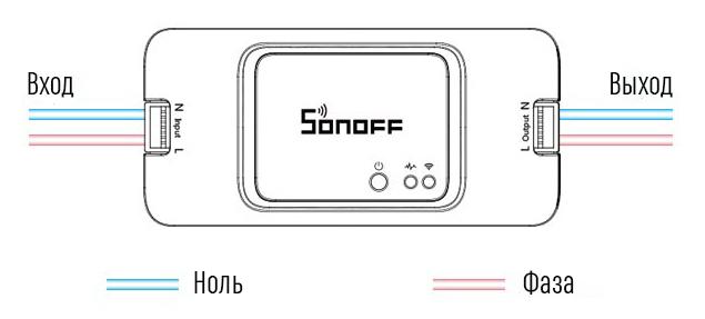Умный WiFi выключатель Sonoff RF R3
