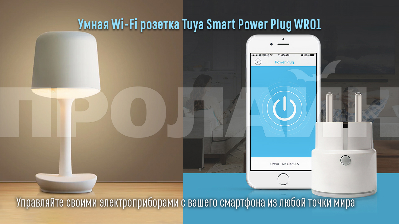Умная Wi-Fi розетка Tuya Smart Power Plug WR01