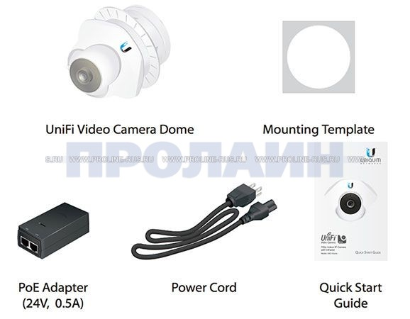 Купольная IP-камера предназначена для видеонаблюдения Ubiquiti UniFi Dome